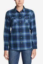 Blue Petite Flannel Shirts for Women: Women's Stine's Favorite Flannel Shirt - Plaid