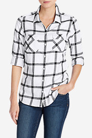 Long Sleeve Plus Size Flannel Shirts for Women: Women's Stine's Favorite Flannel Shirt - Plaid