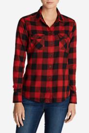 Cotton Tops for Women: Women's Stine's Favorite Flannel Shirt - Plaid