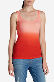Spandex Tank Tops for Women: Women's Lookout 2x2 Rib Dip Dye Tank Top