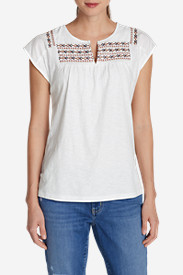 Petite Tops for Women: Women's Laurel Canyon Embroidered Top