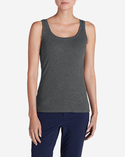 Gray Tank Tops for Women: Women's Lookout 2x2 Rib Tank Top