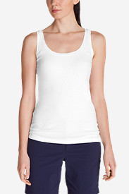 White Tees for Women: Women's Lookout 2x2 Rib Tank Top