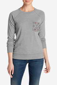 Cotton Tops for Women: Women's Legend Wash Sweatshirt - Pocket