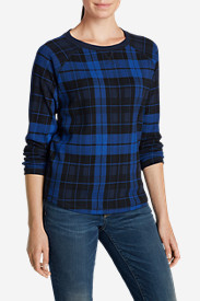 Cotton Tops for Women: Women's Legend Wash Sweatshirt - Plaid
