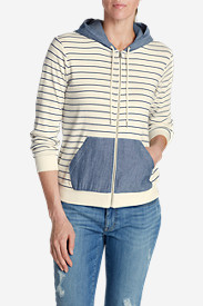 Plus Size Hoodies for Women: Women's Legend Wash Hoodie - Stripe