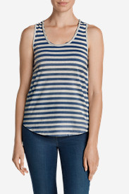 Cotton Tops for Women: Women's Gypsum Tank Top - Stripe
