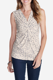 Women's Girl On The Go® Sleeveless Knot Front Top