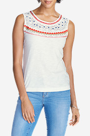 Cotton Tops for Women: Women's Ravenna Crochet Tank Top