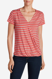 Women's Girl On The Go Wrap It Up Top - Stripe