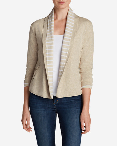 Cotton Cardigans for Women: Women's Lookout Double-Layer Cardigan