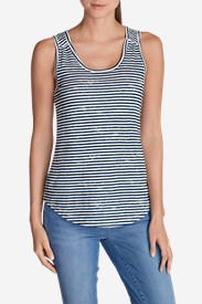 Women's Essential Slub Tank Top - Stripe