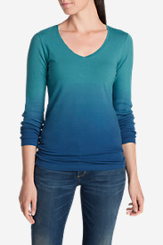 Comfortable Tops for Women: Women's Lookout Dip Dye Long-Sleeve Top