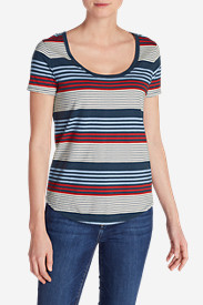 Women's Gypsum Striped T-Shirt
