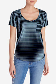 Women's Gypsum Pocket T-Shirt - Mini Stripe
