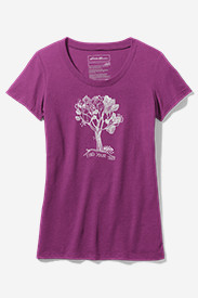 Cotton Tops for Women: Women's Graphic Short-Sleeve T-Shirt - Find Your Tree