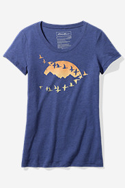 Women's Graphic Short-Sleeve T-Shirt - Flying Geese