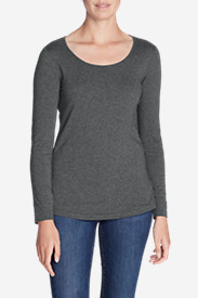 Women's Long-Sleeve Scoop-Neck T-Shirt