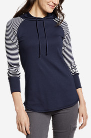 Cotton Tops for Women: Women's Favorite Pullover Hoodie - Stripe