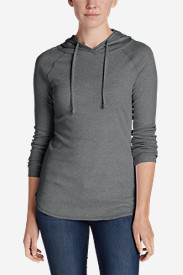 Comfortable Tops for Women: Women's Favorite Pullover Hoodie - Solid