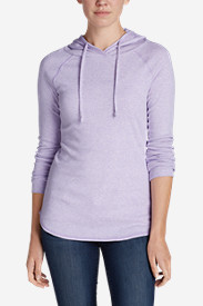 Purple Tees for Women: Women's Favorite Pullover Hoodie - Solid