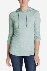 Knit Hoodies for Women: Women's Favorite Pullover Hoodie - Solid