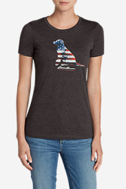 Women's Graphic Tri-Blend Crewneck T-Shirt - Lab Flag
