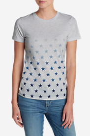 Comfortable Tops for Women: Women's Graphic Tri-Blend Crewneck T-Shirt - Stars