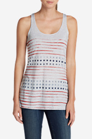 Striped Tank Tops for Women: Women's Graphic Triblend Tank Top - Stars and Stripes
