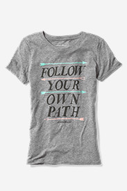 Women's Graphic T-Shirt - Follow Your Own Path