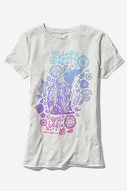 Women's Ombré Bear Triblend T-Shirt