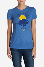 Women's Buffalo In The Rising Sun Triblend T-Shirt