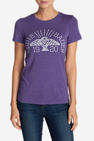 Purple Tees for Women: Women's Vintage Eagle Triblend T-Shirt