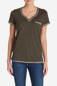 New Fall Arrivals: Women's Daybreak Embroidered Short-Sleeve T-Shirt