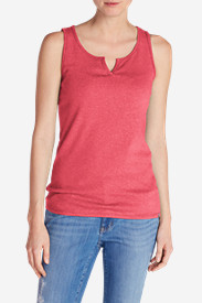 Women's Favorite Notched-Neck Tank Top