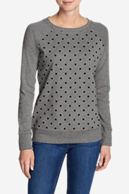 Women's Legend Wash Crewneck Sweatshirt - Polka Dot