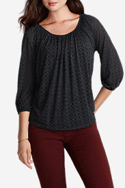 Women's Burnout Gathered Top
