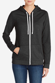 Gray Hoodies for Women: Women's Camp Fleece Full-Zip Hoodie