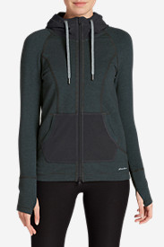 Gray Hoodies for Women: Women's Summit Full-Zip Hoodie - Stripe