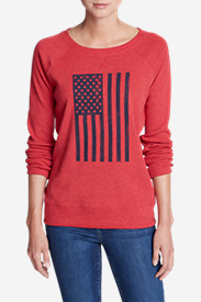 Women's Legend Wash Americana Flag Sweatshirt