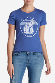 Cotton Tops for Women: Women's Graphic T-Shirt - Polar Bear