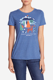 Comfortable Tops for Women: Women's Graphic T-Shirt - Yosemite Geo