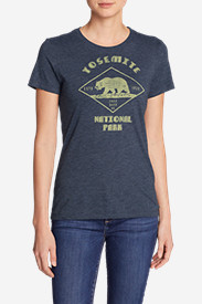 Cotton Tops for Women: Women's Graphic T-Shirt - Yosemite Bear