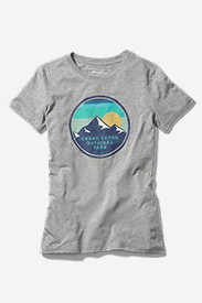 Gray Plus Size Tshirts for Women: Women's Graphic T-Shirt - Grand Teton
