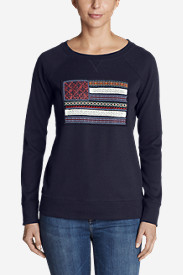 Women's Legend Wash Crewneck Sweatshirt - Flag