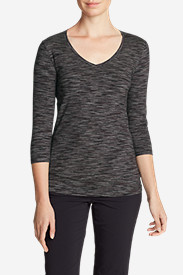 Women's Lookout 3/4-Sleeve V-Neck T-Shirt - Spacedye
