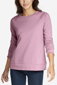 best service 33b36 df48b Womens Camp Fleece Long-Sleeve Crewneck Pullover