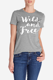 Women's Graphic T-Shirt - Wild and Free