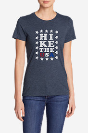 Women's Triblend Crew T-Shirt - Hike The USA