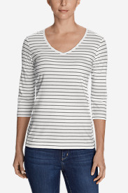 Women's Lookout 3/4-Sleeve V-Neck T-Shirt - Stripe